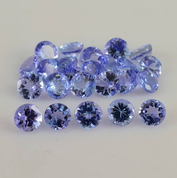 4x4x2.4 Mm Natural Tanzanite Faceted Round Aaa+ Grade Loose Gemstone - 100% Natural Tanzanite Gemstone - Tanzanite Jewelry - Tzblu-1044