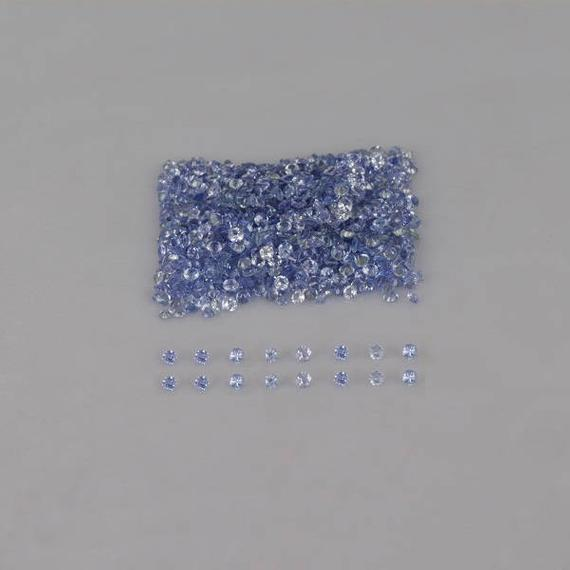 Natural Tanzanite 1.5x1.5x1 Mm Faceted Round Aa Grade Loose Gemstone - 100% Natural Tanzanite Gemstone - Tanzanite Jewelry - Tzblu-1020