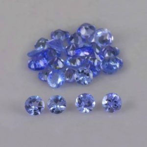 Shop Tanzanite Stones & Crystals! Natural Tanzanite 2.5×2.5×1.6 mm Faceted Round 16 Pieces AA+ Grade Loose Gemstone – 100% Natural Genuine Tanzanite Gemstone – TZBLU-1016 | Natural genuine stones & crystals in various shapes & sizes. Buy raw cut, tumbled, or polished gemstones for making jewelry or crystal healing energy vibration raising reiki stones. #crystals #gemstones #crystalhealing #crystalsandgemstones #energyhealing #affiliate #ad