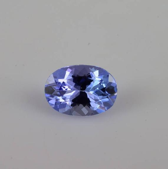Natural Blue Tanzanite 7x5x3.4 Mm Faceted Cut Oval 0.81 Cts 1 Piece Aaa Grade Loose Gemstone - 100% Natural Tanzanite Gemstones - Tzblu-1041