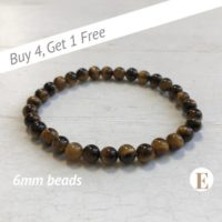 Tigers Eye Bracelet | 6 Mm Beads | Tiger Eye Beads | Stretch Bracelet | Healing Crystal Bracelet | Buy 4 Get 1 Free! | Natural genuine Gemstone jewelry. Buy crystal jewelry, handmade handcrafted artisan jewelry for women.  Unique handmade gift ideas. #jewelry #beadedjewelry #beadedjewelry #gift #shopping #handmadejewelry #fashion #style #product #jewelry #affiliate #ad