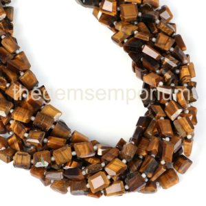 Shop Tiger Eye Chip & Nugget Beads! Tiger Eye Faceted Nugget Beads, Tiger Eye Nugget Shape Gemstone Beads, Tiger Eye Wholesale Beads, Tiger Eye Beads, Tiger Eye gemstone beads | Natural genuine chip Tiger Eye beads for beading and jewelry making.  #jewelry #beads #beadedjewelry #diyjewelry #jewelrymaking #beadstore #beading #affiliate #ad