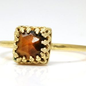Shop Tiger Eye Jewelry! Tiger Eye ring,14k ring,gold stacking ring,delicate stack ring,gemstone ring,square tiny stone ring,woman ring | Natural genuine Tiger Eye jewelry. Buy crystal jewelry, handmade handcrafted artisan jewelry for women.  Unique handmade gift ideas. #jewelry #beadedjewelry #beadedjewelry #gift #shopping #handmadejewelry #fashion #style #product #jewelry #affiliate #ad