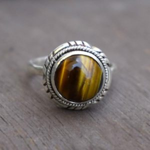 Shop Tiger Eye Rings! Natural Tiger Eye Ring,Solid 925 Sterling Silver Girls Ring,Handmade Jewelry,Perfect Gift Women's Ring,Tiger Eye's Ring,Statement jewelry   Natural genuine Tiger Eye rings, simple unique handcrafted gemstone rings. #rings #jewelry #shopping #gift #handmade #fashion #style #affiliate #ad
