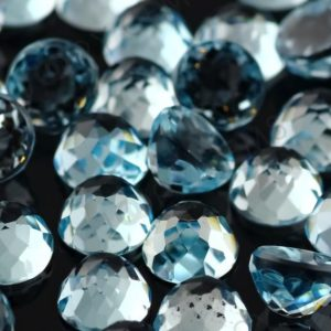 Shop Topaz Cabochons! Sky Blue Topaz Rose Cut Cabochon 5mm Round – per stone | Natural genuine stones & crystals in various shapes & sizes. Buy raw cut, tumbled, or polished gemstones for making jewelry or crystal healing energy vibration raising reiki stones. #crystals #gemstones #crystalhealing #crystalsandgemstones #energyhealing #affiliate #ad