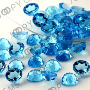 Shop Topaz Cabochons! Swiss Blue Topaz Rose Cut Cabochon 8mm Round – per stone | Natural genuine stones & crystals in various shapes & sizes. Buy raw cut, tumbled, or polished gemstones for making jewelry or crystal healing energy vibration raising reiki stones. #crystals #gemstones #crystalhealing #crystalsandgemstones #energyhealing #affiliate #ad
