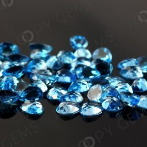 Shop Topaz Cabochons! Swiss Blue Topaz Rose Cut Pear Cabochon 8x6mm, per stone | Natural genuine stones & crystals in various shapes & sizes. Buy raw cut, tumbled, or polished gemstones for making jewelry or crystal healing energy vibration raising reiki stones. #crystals #gemstones #crystalhealing #crystalsandgemstones #energyhealing #affiliate #ad