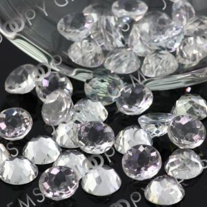 Shop Topaz Cabochons! White Topaz Rose Cut Cabochon 10mm Round – per stone | Natural genuine stones & crystals in various shapes & sizes. Buy raw cut, tumbled, or polished gemstones for making jewelry or crystal healing energy vibration raising reiki stones. #crystals #gemstones #crystalhealing #crystalsandgemstones #energyhealing #affiliate #ad