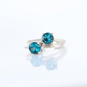 London Blue Topaz Ring, Sterling Silver Stack Rings for Women, Engagement Ring, December Birthstone Ring Size 5 6 7 8, Blue Topaz Jewelry   Natural genuine Gemstone rings, simple unique alternative gemstone engagement rings. #rings #jewelry #bridal #wedding #jewelryaccessories #engagementrings #weddingideas #affiliate #ad