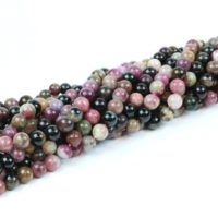 """6mm Tourmaline Beads, diy Beading, jewelry Supplies, natural Gemstone Beads, semiprecious Beads, jewelry Necklace Beads – 16"""" Full Strand 
