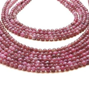 "Shop Tourmaline Bead Shapes! Pink beads,Chinese tourmaline,ball beads,precious beads,stone beads,tourmaline strand,jewelry supplies,beads diy  – 16"" Full Strand 