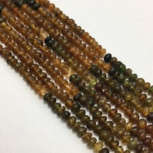 Shop Tourmaline Rondelle Beads! Natural Petro Tourmaline Plain Rondelle Beads, 4mm to 4.5mm, 13 inches, Yellow Beads, Gemstone Beads, Semiprecious Beads | Natural genuine rondelle Tourmaline beads for beading and jewelry making.  #jewelry #beads #beadedjewelry #diyjewelry #jewelrymaking #beadstore #beading #affiliate #ad