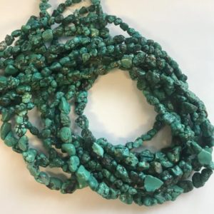 "Shop Turquoise Chip & Nugget Beads! 100% Natural Turquoise 4-12mm Nugget Gemstone Beads -15.5""–1 strand/3 strands–#78 