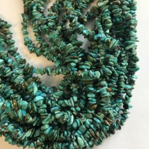 Shop Turquoise Chip & Nugget Beads! 100% natural turquoise Chips 4-8mm Natural Gemstone Bead -15 inch strand–1 strand/3 strands | Natural genuine chip Turquoise beads for beading and jewelry making.  #jewelry #beads #beadedjewelry #diyjewelry #jewelrymaking #beadstore #beading #affiliate #ad