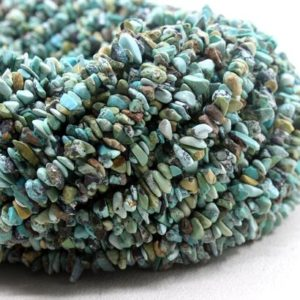 "Shop Turquoise Chip & Nugget Beads! 16"" Long Natural Arizona Turquoise Chips Beads, uncut Beads, turquoise Beads, 5-6 Mm, jewelry Making, polished Smooth Beads, wholesale Price 