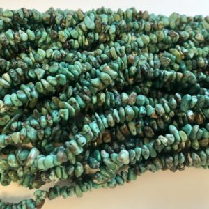 Shop Turquoise Chip & Nugget Beads! turquoise 3-10mm chip Natural Gemstone Bead -15.5 inch strand–1 strand/3 strands | Natural genuine chip Turquoise beads for beading and jewelry making.  #jewelry #beads #beadedjewelry #diyjewelry #jewelrymaking #beadstore #beading #affiliate #ad