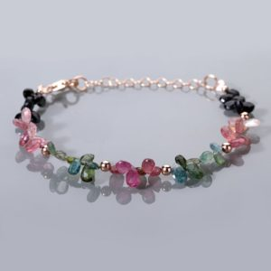 Shop Watermelon Tourmaline Bracelets! Tourmaline Bracelet Watermelon Tourmaline Pear Bracelet Genuine Multi-Colored Tourmaline Bracelet Christmas Gift For Mom Gift For Girlfriend | Natural genuine Watermelon Tourmaline bracelets. Buy crystal jewelry, handmade handcrafted artisan jewelry for women.  Unique handmade gift ideas. #jewelry #beadedbracelets #beadedjewelry #gift #shopping #handmadejewelry #fashion #style #product #bracelets #affiliate #ad