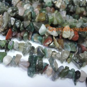 "Shop Agate Chip & Nugget Beads! 34"" Indian agate ~5x10mm chips, multi color gemstone, semi-precious stone, small multi color DIY chips beads, gemstone wholesaler 