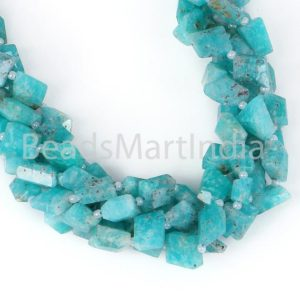 Shop Amazonite Chip & Nugget Beads! Amazonite Faceted Nugget Fancy Beads, Amazonite Nugget Beads, Amazonite Faceted Nuggets Beads, Amazonite Nugget Fancy Beads, Amazonite Beads | Natural genuine chip Amazonite beads for beading and jewelry making.  #jewelry #beads #beadedjewelry #diyjewelry #jewelrymaking #beadstore #beading #affiliate #ad