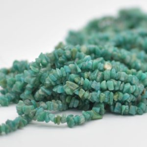 "Shop Amazonite Chip & Nugget Beads! High Quality Grade A Natural Russian Amazonite Semi-precious Gemstone Chips Nuggets Beads – 5mm – 8mm, approx 36"" Strand 