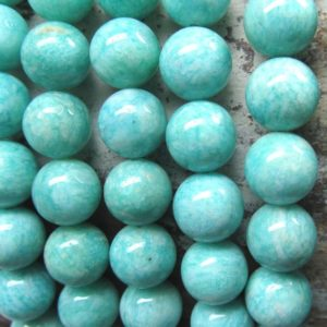 Amazonite Beads 10mm Aqua Blue/Green Swirled Russian Amazonite Smooth Beads –  8 Pieces | Natural genuine other-shape Amazonite beads for beading and jewelry making.  #jewelry #beads #beadedjewelry #diyjewelry #jewelrymaking #beadstore #beading #affiliate #ad