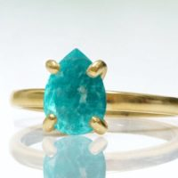 Gold Stacking Ring, amazonite Ring, gemstone Ring, sky Blue Ring, teardrop Rings, promise Ring, bridal Ring, gold Ring | Natural genuine Gemstone jewelry. Buy handcrafted artisan wedding jewelry.  Unique handmade bridal jewelry gift ideas. #jewelry #beadedjewelry #gift #crystaljewelry #shopping #handmadejewelry #wedding #bridal #jewelry #affiliate #ad