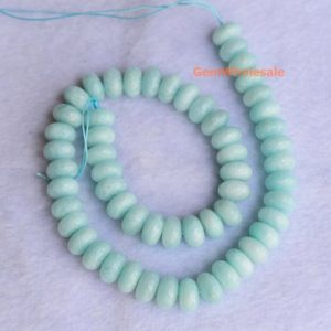 "Shop Amazonite Rondelle Beads! 15.5"" 6x10mm Natural Peru amazonite rondelle beads, AA light Green gemstone, semi-precious stone, wheel beads,Amazonite roundel beads JGSO 