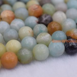 "Shop Amazonite Round Beads! 15.5"" 6mm/8mm/10mm/12mm Natural amazonite round beads, Green gemstone, semi-precious stone, small green color DIY beads, gemstone wholesaler 