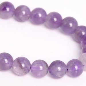 "6MM Deep Lavender Amethyst Beads Brazil Grade AA Genuine Natural Gemstone Half Strand Round Loose Beads 7.5"" Bulk Lot Options (109775h-3063) 