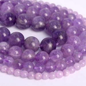 Genuine Natural Lavender Amethyst Loose Beads Grade AA Round Shape 6mm 7-8mm 8mm 9-10mm 10mm 11-12mm 12mm | Natural genuine round Amethyst beads for beading and jewelry making.  #jewelry #beads #beadedjewelry #diyjewelry #jewelrymaking #beadstore #beading #affiliate #ad