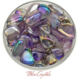 Shop Tumbled Amethyst Crystals & Pocket Stones! 1 Medium AMETHYST Rainbow Aura Tumbled Stone (4 – 7 gm) aka Opal Aura Quartz Crystal, Meditation Joy Intuition #AA02 | Natural genuine stones & crystals in various shapes & sizes. Buy raw cut, tumbled, or polished gemstones for making jewelry or crystal healing energy vibration raising reiki stones. #crystals #gemstones #crystalhealing #crystalsandgemstones #energyhealing #affiliate #ad