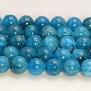 Shop Apatite Round Beads! 4mm Genuine Natural Blue Apatite Gemstone Grade AAA Round Loose Beads 15.5 inch Full Strand (80006975-117) | Natural genuine round Apatite beads for beading and jewelry making.  #jewelry #beads #beadedjewelry #diyjewelry #jewelrymaking #beadstore #beading #affiliate #ad