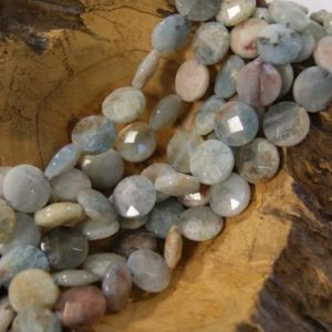 Shop Aquamarine Faceted Beads! Aquamarine Beads Natural Faceted Coin-18x7mm -15 inch strand- | Natural genuine faceted Aquamarine beads for beading and jewelry making.  #jewelry #beads #beadedjewelry #diyjewelry #jewelrymaking #beadstore #beading #affiliate #ad