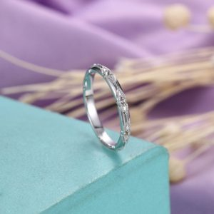Shop Aquamarine Jewelry! Aquamarine wedding band Vintage wedding band Women Antique Milgrain Matching Stacking Jewelry Anniversary  Bridal Simple Unique | Natural genuine Aquamarine jewelry. Buy handcrafted artisan wedding jewelry.  Unique handmade bridal jewelry gift ideas. #jewelry #beadedjewelry #gift #crystaljewelry #shopping #handmadejewelry #wedding #bridal #jewelry #affiliate #ad