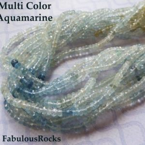 1/2 Strand, Natural AQUAMARINE Gemstone Beads Rondelles Roundels, March Birthstone Gem, 4 mm Luxe AAA, Wholesale Jewelry Supplie solo ar4 | Natural genuine rondelle Aquamarine beads for beading and jewelry making.  #jewelry #beads #beadedjewelry #diyjewelry #jewelrymaking #beadstore #beading #affiliate #ad