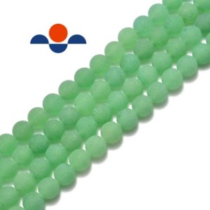 "Shop Aventurine Beads! Natural Green Aventurine Matte Round Beads 4mm 6mm 8mm 10mm 15.5"" Strand 