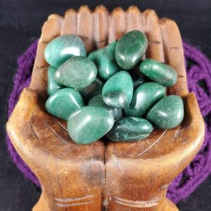 Shop Tumbled Aventurine Crystals & Pocket Stones! Sale Dark Green Aventurine Tumbled Stone Polished Crystal Stones Crystals Unique Large Mica Sparkles Tumbles | Natural genuine stones & crystals in various shapes & sizes. Buy raw cut, tumbled, or polished gemstones for making jewelry or crystal healing energy vibration raising reiki stones. #crystals #gemstones #crystalhealing #crystalsandgemstones #energyhealing #affiliate #ad