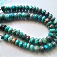 9-10mm Azurite Malachite Faceted Rondelle Beads, Natural Azurite Malachite Beads, Malachite For Necklace (4in To 8in Options)- Pdg184 | Natural genuine Gemstone jewelry. Buy crystal jewelry, handmade handcrafted artisan jewelry for women.  Unique handmade gift ideas. #jewelry #beadedjewelry #beadedjewelry #gift #shopping #handmadejewelry #fashion #style #product #jewelry #affiliate #ad
