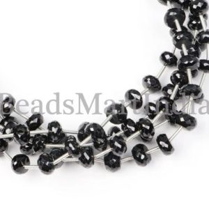 Shop Black Tourmaline Beads! Black Tourmaline, Black Tourmaline Faceted Rondelle Beads, Black Tourmaline Beads, Tourmaline Beads, Black Tourmaline Faceted Beads | Natural genuine faceted Black Tourmaline beads for beading and jewelry making.  #jewelry #beads #beadedjewelry #diyjewelry #jewelrymaking #beadstore #beading #affiliate #ad