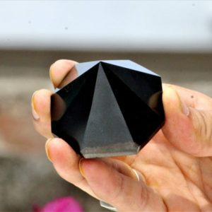 Large 50MM 8 Faceted Natural Black Tourmaline Stone Metaphysical Healing Power Pyramid Hexagon Antenna | Natural genuine stones & crystals in various shapes & sizes. Buy raw cut, tumbled, or polished gemstones for making jewelry or crystal healing energy vibration raising reiki stones. #crystals #gemstones #crystalhealing #crystalsandgemstones #energyhealing #affiliate #ad
