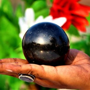 Shop Black Tourmaline Shapes! Large Natural Black Tourmaline Crystal Good Quality 80MM Metaphysical Healing Power Sphere Ball | Natural genuine stones & crystals in various shapes & sizes. Buy raw cut, tumbled, or polished gemstones for making jewelry or crystal healing energy vibration raising reiki stones. #crystals #gemstones #crystalhealing #crystalsandgemstones #energyhealing #affiliate #ad