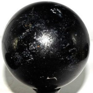 """Shop Black Tourmaline Shapes! Black Tourmaline Quartz Sphere 4.5"""" weighs 4.95 pounds 