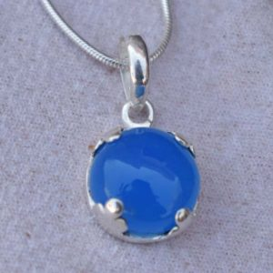 Shop Blue Chalcedony Pendants! Beautiful Handmade Blue Chalcedony Pendant,Blue Chalcedony Pendant,Solid925 Sterling Silver Pendant,Birthday Gift for her,Chalcedony Pendant | Natural genuine Blue Chalcedony pendants. Buy crystal jewelry, handmade handcrafted artisan jewelry for women.  Unique handmade gift ideas. #jewelry #beadedpendants #beadedjewelry #gift #shopping #handmadejewelry #fashion #style #product #pendants #affiliate #ad