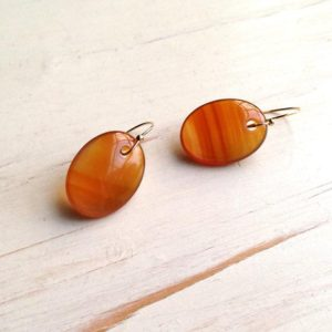Carnelian Earrings Carnelian Slice Earrings Carnelian Jewelry | Natural genuine Carnelian earrings. Buy crystal jewelry, handmade handcrafted artisan jewelry for women.  Unique handmade gift ideas. #jewelry #beadedearrings #beadedjewelry #gift #shopping #handmadejewelry #fashion #style #product #earrings #affiliate #ad