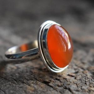 Shop Carnelian Rings! carnelian ring,carnelian gemstone ring,oval shape ring,925 silver ring,natural carnelian ring,gemstone ring | Natural genuine Carnelian rings, simple unique handcrafted gemstone rings. #rings #jewelry #shopping #gift #handmade #fashion #style #affiliate #ad