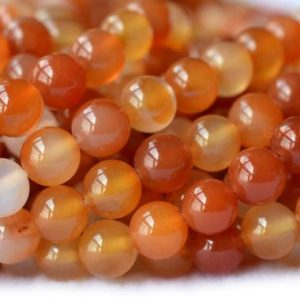 "15"" 4mm / 6mm Natural Carnelian Round Beads, Orange Red Gemstone, Semi-precious Stone Wholesaler 