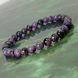Shop Charoite Bracelets! Natural Charoite Bracelet 6 mm, Unisex Women Men Bracelet, Natural Gemstone Bracelet, Russian Charoite Beaded Bracelet, Gift + Gift Box | Natural genuine Charoite bracelets. Buy crystal jewelry, handmade handcrafted artisan jewelry for women.  Unique handmade gift ideas. #jewelry #beadedbracelets #beadedjewelry #gift #shopping #handmadejewelry #fashion #style #product #bracelets #affiliate #ad