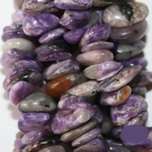 Shop Charoite Chip & Nugget Beads! Genuine Charoite Gemstone Chips, bead size approx. 9 mm, long strand (36 inch), A-Quality | Natural genuine chip Charoite beads for beading and jewelry making.  #jewelry #beads #beadedjewelry #diyjewelry #jewelrymaking #beadstore #beading #affiliate #ad