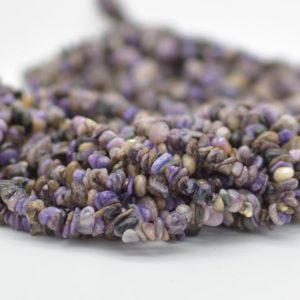 """Shop Charoite Chip & Nugget Beads! High Quality Grade A Natural Charoite Semi-precious Gemstone Chips Nuggets Beads – 5mm – 8mm, approx 36"""" Strand 
