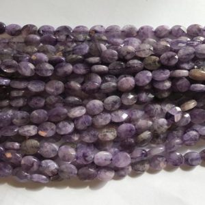 """Shop Charoite Faceted Beads! Charoite 8x6x3mm Faceted Flat Oval Gemstone Beads–15.5""""–1 Strand / 3 Strands 